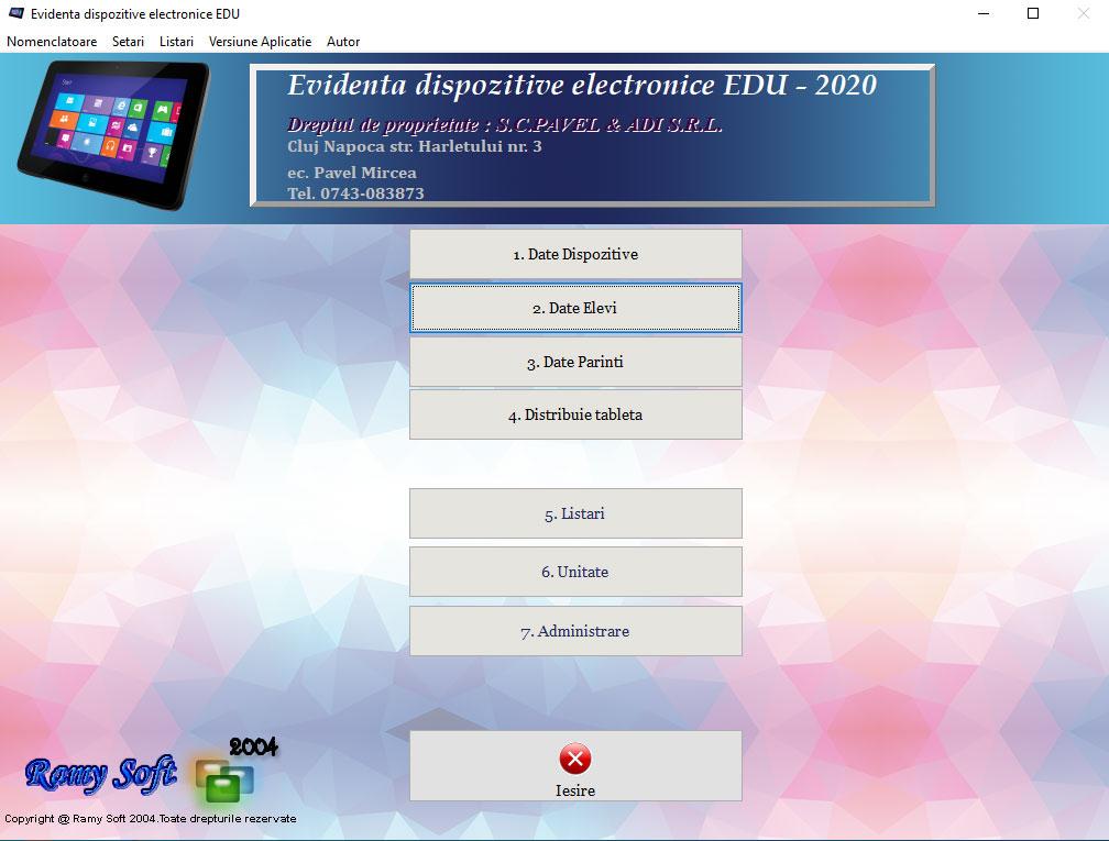 Aplicatie – Evidenta dispozitive electronice
